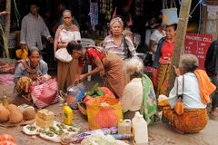 Traditional tribal market on an island Timor, Indonesia Stock Photography