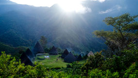 The Traditional Tribe Village in Flores, Wae Rebo Royalty Free Stock Photo