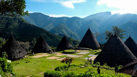 Traditional Tribe Village in Wae Rebo Stock Photography