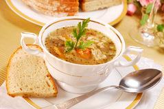 Traditional tripe soup (flaki) Stock Photos