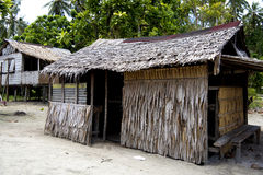 Traditional tropic house made of palm leaves Royalty Free Stock Photos