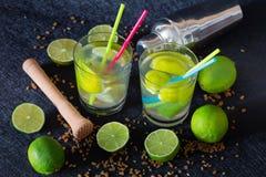 Traditional tropical drink. Caipirinha stock images