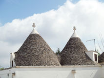 Traditional trulli homes Royalty Free Stock Image