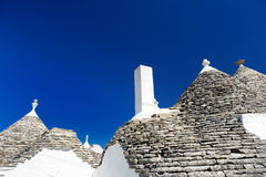 Traditional trulli houses in Alberobello Royalty Free Stock Images