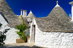 Traditional trulli houses in Alberobello Stock Image
