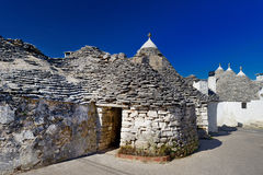 Traditional trulli houses in Alberobello Royalty Free Stock Photo