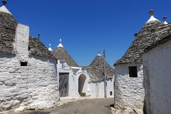 Traditional trulli houses in Alberobello, Puglia Royalty Free Stock Images