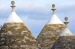 Traditional Trulli houses of the Apulia region Royalty Free Stock Photography