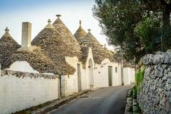 Traditional trulli houses in Arbelobello, Puglia, Italy Royalty Free Stock Photo