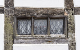 Traditional Tudor style window frame in England Stock Photos