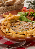 Traditional tuna steak portuguese dish Royalty Free Stock Photography
