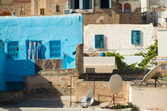 Traditional Tunisian Buildings (2). Collection of Low-Income Urban Homes Royalty Free Stock Image