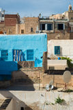Traditional Tunisian Buildings. Collection of Low-Income Urban Homes Stock Image
