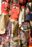Traditional Tunisian dolls. Handmade puppets on sale in the souq marketplace of a Tunis, Tunisia Royalty Free Stock Photos