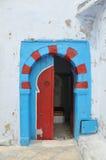 Traditional Tunisian door. To a Turkish bath royalty free stock image