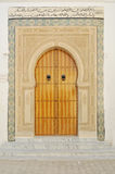 Traditional Tunisian door. To a mosque royalty free stock photo