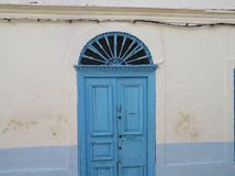 Traditional Tunisian door. Royalty Free Stock Image