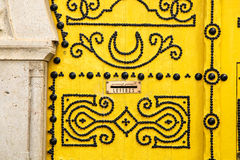 Traditional Tunisian door in Tunis, the capital of the islamic c. Ountry Stock Images