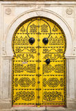 Traditional Tunisian door in Tunis, the capital of the islamic c Stock Images