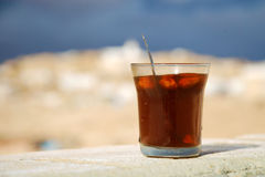 Traditional Tunisian rosemary tea with almonds Royalty Free Stock Photography