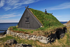 Traditional turf covered house, Iceland Royalty Free Stock Photography