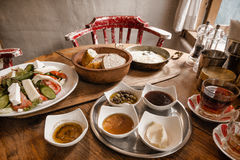 Traditional Turkish Anatolian Breakfast Royalty Free Stock Image