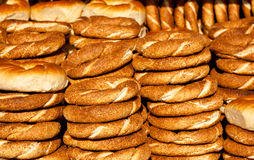 Traditional turkish bagel. As a background Royalty Free Stock Photo