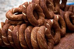 Traditional Turkish bakery with seeds Stock Photo