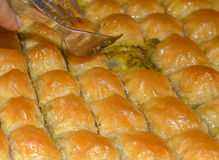 Traditional Turkish Baklava. Traditional Turkish dessert 'Baklava' Baklava is a Turkish dessert made with Phyllo dough, nuts, butter, and sugar Stock Photos