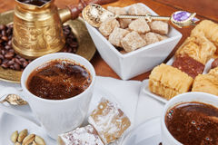 Traditional Turkish black coffee Royalty Free Stock Photo