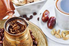 Traditional Turkish black coffee Royalty Free Stock Photos