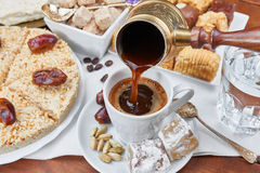Traditional Turkish black coffee Royalty Free Stock Image