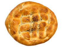 Traditional Turkish bread pide Stock Photos