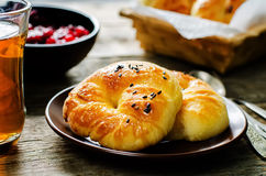 Traditional Turkish bread rolls. Achma. Royalty Free Stock Photos