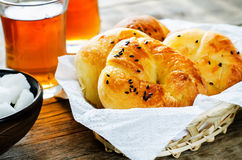 Traditional Turkish bread rolls. Achma. Stock Image