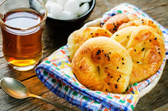 Traditional Turkish bread rolls. Achma. Stock Photography