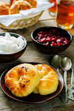 Traditional Turkish bread rolls. Achma. Stock Photo