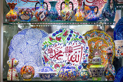 Traditional Turkish ceramics on the Grand Bazaar Stock Image