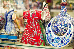 Traditional Turkish ceramics on the Grand Bazaar Stock Photos