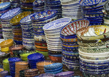 Traditional Turkish ceramics on the Grand Bazaar Royalty Free Stock Photo