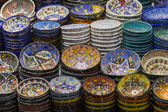 Traditional Turkish ceramics on the Grand Bazaar Stock Photo