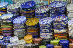 Traditional Turkish ceramics on the Grand Bazaar Royalty Free Stock Photo