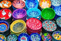 Traditional Turkish ceramics on the Grand Bazaar Royalty Free Stock Images