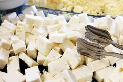 Cheese. Traditional Turkish Cheese, a food made from the pressed curds of milk Stock Images