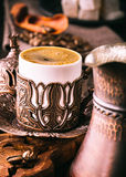 Traditional turkish coffee cup Royalty Free Stock Photo