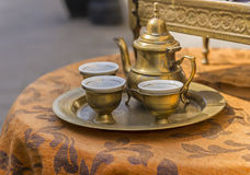 Traditional Turkish coffee pots Royalty Free Stock Photos