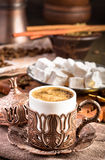 Traditional turkish coffee Royalty Free Stock Images