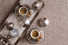 Traditional Turkish coffee for two Royalty Free Stock Images