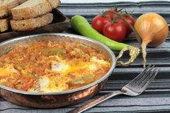 Traditional Turkish cuisine, Menemen. Royalty Free Stock Photo