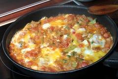 Traditional Turkish cuisine, Menemen. Stock Photos